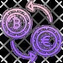 Bitcoin Exchange Transaction Euro Cryptocurrency Exchange Icon