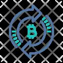 Bitcoin Exchange Time Icon