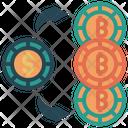 Bitcoin Exchange Buy Dollar Icon