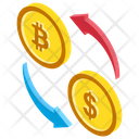 Bitcoin Exchange Bitcoin Trading Digital Marketplace Icon