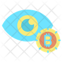Monitor Bitcoin Eye Eye Icon