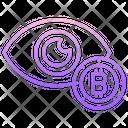 Bitcoin Eye Icon