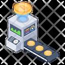 Digital Money Bitcoin Industry Bitcoin Factory Icon