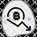 Bitcoin Fall Icon
