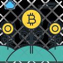 Bitcoin Farm Bitcoin Flower Icon