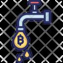 Bitcoin Faucet Bitcoin Flow Bitcoin Tap Icon