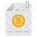 Bitcoin File Document Bitcoin Paper Icon