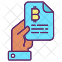 Bitcoin Hand File Bitcoin File Bitcoin Document Icon