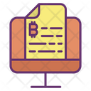 Bitcoin File Computer Bitcoin File Bitcoin Document Icon