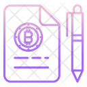 File Bitcoin File Bitcoin Document Icon