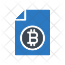 File Document Bitcoin Icon