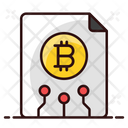 Bitcoin File Blockchain Document Bitcoin Information Icon