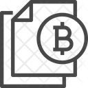 Bitcoin File Bitcoin Document Document Icon