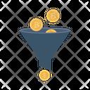 Funnel Bitcoin Filter Icon