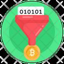Bitcoin Funnel Bitcoin Filtration Data Filter Icon