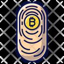 Bitcoin Fingerprint Blockchain Transfer Icon