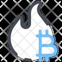 Bitcoin Fire Icon