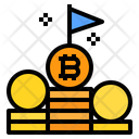 Coin Stack Flag Icon