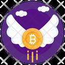 Bitcoin Wings Bitcoin Flight Fast Bitcoin Icon