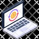 Bitcoin Flow Money Flow Cryptocurrency Flow Icon