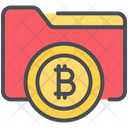 Bitcoin File Folder Icon