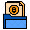 Folder Bitcoin Document Icon