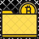 Bitcoin Folder Folder Bank Icon