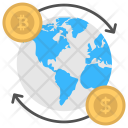 Bitcoin Foreign Currency Exchange Icon