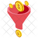 Bitcoin Funnel Cryptocurrency Funnel Bitcoin Marketing Icon