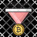 Filter Sort Bitcoin Icon
