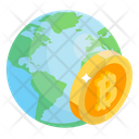 Bitcoin Network Bitcoin World Global Cryptocurrency Icon