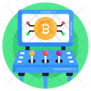 Bitcoin Network Bitcoin Connection Blockchain Icon