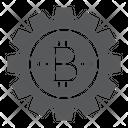 Bitcoin Gear Icon