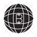 Bitcoin Globe Network Icon