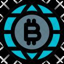 Bitcoin Globe Icon