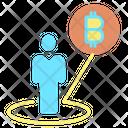 Goal Bitcoin Goal Target Icon