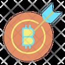 Bitcoin Goal Icon