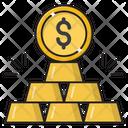Ingot Gold Dollar Icon