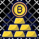 Bitcoin Gold Gold Mining Icon