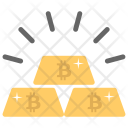 Gold Distributed Currency Icon