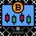 Monitor Display Bitcoin Icon