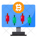 Monitor Display Bitcoin Icon