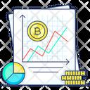 Bitcoin Analytics Bitcoin Graph Bitcoin Report Icon
