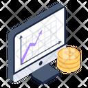Bitcoin Chart Bitcoin Graph Blockchain Graph Icon