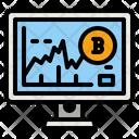 Bitcoin Graph Bitcoin Graph Icon