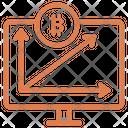 Bitcoin Graph Analytics Chart Icon