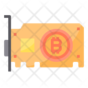 Graphic Card Money Bitcoin Cryptocurrency Bitcoin Graphic Card Icon