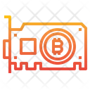 Bitcoin Graphic Card Icon