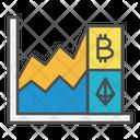 Bitcoin growth Icon