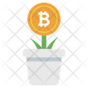 Bitcoin Growth Money Growth Blockchain Icon